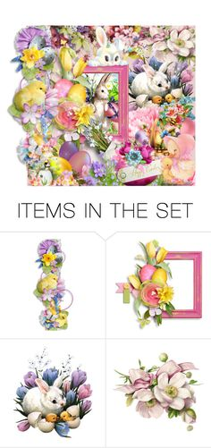 """""""Happy Easter! ♥"""" by asia-12 ❤ liked on Polyvore featuring art"""