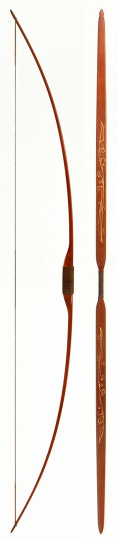 ELDAR BOW hickory-backed hickory longbow.    design copyright Egan&Ives, LLC 2015