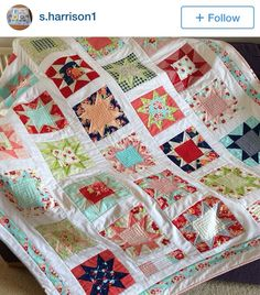 Saw tooth star quilt