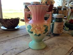 Beautiful Hull pottery in our Etsy shop! Check us out {SistersGardenIowa}