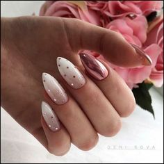 Polka Dot Nails If you love polka dots you're going to love these gorgeous nail designs we've gathered up. Take a look and get inspired by some of the best polka dot nails. Cute Nails, Pretty Nails, Nail Art Designs, Glitter Nail Designs, Gel Polish Designs, New Years Nail Designs, Almond Nails Designs, Simple Nail Designs, Hair And Nails