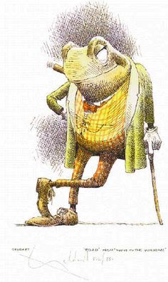 Mr Toad of 'Toad Hall' is amazing because of his eccentric obsession with…