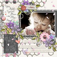 Page made by Akizo using Paper Play #15 | Templates, Cherish You | Collection by Akizo Designs (Digital Scrapbooking layout)