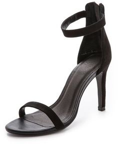 €245, Sandales à talons en daim noires Joie. De shopbop.com. Cliquez ici pour plus d'informations: https://lookastic.com/women/shop_items/132716/redirect