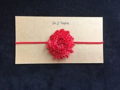 Simple and sweet...red polka dot shabby headband for Valentine's Day