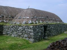 The Blackhouses of the Isle of Lewis, (Western Isles, or Outer Hebrides), Scotland!