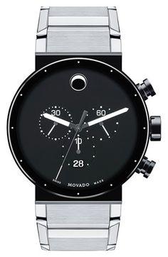 Men's Movado 'Sapphire Synergy' Chronograph Bracelet Watch