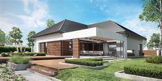 Projekt domu parterowego HomeKoncept-26 o pow. 165,36 m2 z obszernym garażem, z dachem wielospadowym, z tarasem, sprawdź! Home Fashion, House Plans, Exterior, House Design, Mansions, Interior Design, Architecture, House Styles, Outdoor Decor