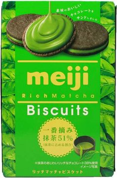 Meiji Rich Green Tea Biscuits $2.80 http://thingsfromjapan.net/meiji-rich-green-tea-biscuits/ #meiji #green tea biscuits #Japanese cookie #Japanese snack