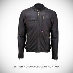 The British Motorcycle Gear 'Montana'—one of the best vintage-style motorcycle jackets we've come across. The leather is a supple grade 'A' semi-aniline cowhide, and the Montana also comes as standard with shoulder and elbow armour. RRP $399. Click here: http://www.britishmotorcyclegear.com/montana-jacket.asp?PARTNER=bikeexif