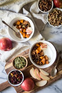 These autumn harvest breakfast bowls are just what you need to get in the mood for fall. It's packed with autumn's best (and crunchiest) flavors!