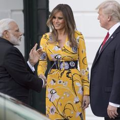 Melania Trump Yellow Emilio Pucci Dress