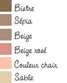 Les teintes de rouge nuancier ral d co pinterest rouge - Faire couleur marron ...