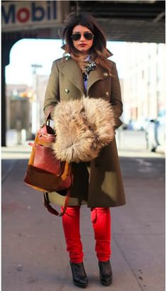 red + military green  lt 3 love the muff Blazers, Mantel, Fashion Tips 989d9094d0b