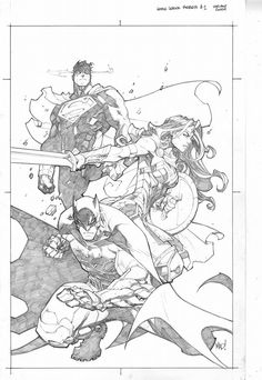 Justice League: Rebirth #1 variant cover by Joe Madureira *