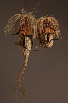 Polly Jacobs Giacchina - twined birdhouse sculpture