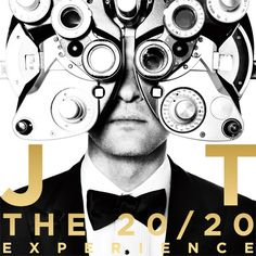 "The official artwork for Justin Timberlake's third studio album, ""The 20/20 Experience."""