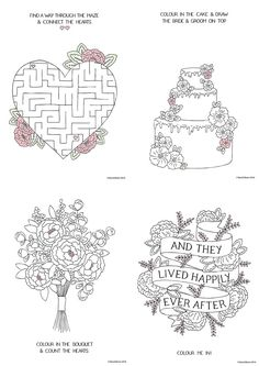 free download printable wedding colouring sheets for kids - Kids Wedding Coloring Book
