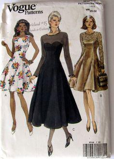 Vogue 8544 Ladies Plus Size Petite Dress by OnceUponAnHeirloom