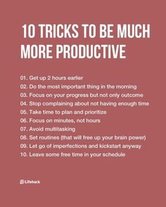 80+ Great #Tips To #TransformYourLife In the #NewYear #productivity #productivitytips