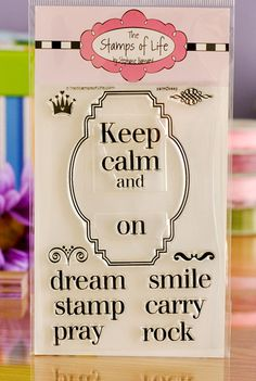 The Stamps of Life with Stephanie Barnard: calm2keep stamp!
