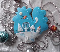 """Купить Пряник """"Петушок рождественский"""" - пряник, пряник расписной, пряники ручной работы, подарок на новый год"""