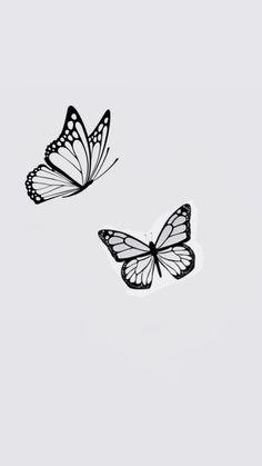 Bff Tattoos, Dainty Tattoos, Small Girl Tattoos, Dope Tattoos, Little Tattoos, Mini Tattoos, Simple Butterfly Tattoo, Butterfly Tattoo Designs, Tattoo Papillon