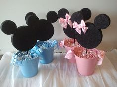 Minnie or Mickey Centerpiece by fiestapartysource on Etsy, $11.75