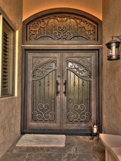 Bristol Iron Entry Door French