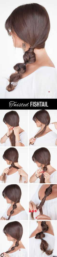 Twisted fishtail side braid hairstyle tutorial: somehow I think these braids do not work superbly with layers but it is a nice style