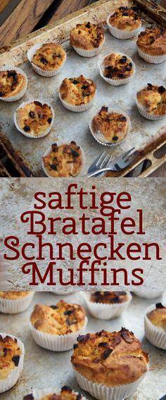 saftige Bratapfel-Schnecken-Muffins mit Hefeteig - Rezept
