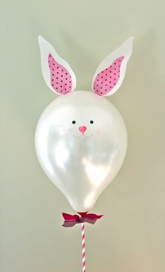 DIY bunny balloon and other adorable easter ideas.