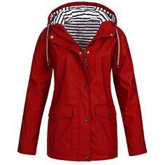 Women Outdoor Hooded Jacket - Button Waterproof Raincoat Jacket, Hooded Raincoat, Green Raincoat, Hoodie Jacket, Baby Raincoat, Blouson Ski, Waterproof Rain Jacket, Plus Size Coats, Raincoats For Women