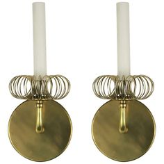 Pair Ring Brass Modern Sconce | From a unique collection of antique and modern wall lights and sconces at http://www.1stdibs.com/furniture/lighting/sconces-wall-lights/