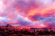 This tye dyed sunset sky set against Sedona's signature red rocks is phenomenal! Seeing this makes me want to visit again...