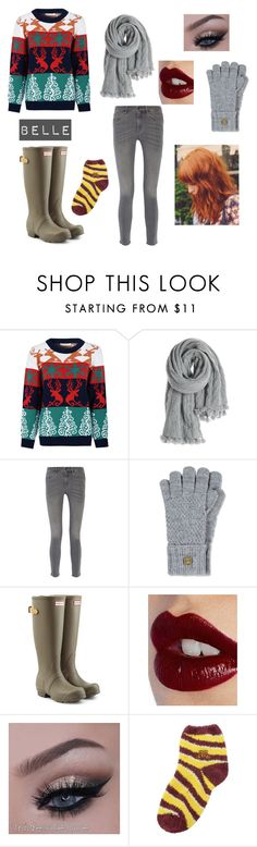 """""""Belle - Christmas Wars"""" by skyexxxx ❤ liked on Polyvore featuring Glamorous, Calypso St. Barth, MiH Jeans, Napapijri, Hunter, Charlotte Tilbury and For Bare Feet"""