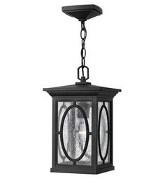 Hinkley Lighting Randolph 1 Light GU24 CFL Outdoor Hanging in Black 1492BK-GU24 #lightingnewyork #lny #lighting