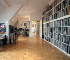 """The kind of collection (and space in a real city) I dream about. """"Radio Slave""""  From dj-rooms.com blog"""