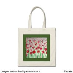 Abstract floral Print Handbag