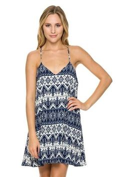 Navy printed tribal t-back dress. Polyester Grab a sticky bra from Target… Sticky Bra, Selling On Pinterest, Dress Backs, Boutique Dresses, Size Chart, Rompers, Navy, Tank Tops, Tees