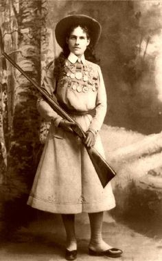 Annie Oakley and all of her medals    #ancestry #history #genealogy