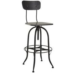 For the art table! Stanford Swivel Bar Stool - Metal
