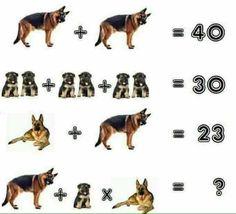 Dog Puzzles, Maths Puzzles, Math Literacy, Teaching Math, Sistema Linear, Brain Teasers With Answers, Math Talk, Math Challenge, Logic Games