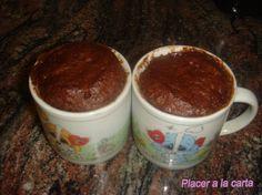 bizcocho de chocolate rapido 5 minutos. Para Desayunos y meriendas.