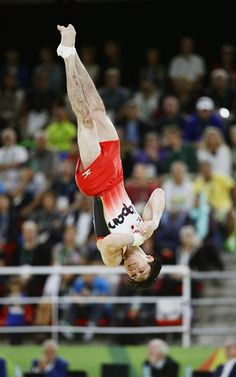 #RIO2016 Japan's Kohei Uchimura competes in the floor exercise during the men's gymnastics team final at the Rio de Janeiro Olympics on Aug 8 2016 Japan won...