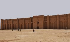 Ukhaidir castle south Karbala province, Iraq its build in 775 AD