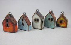 Sweet little ceramic house by Elukka.