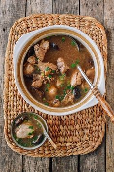 Traditional Chinese Soups To Warm Your Soul | The Woks of Life Chinese Soup Recipes, Mushroom Soup Recipes, Chinese Chicken Soup Recipe, Asian Recipes, Chicken Recipes, Asian Foods, Dried Goji Berries, Tofu Soup, Wok Of Life