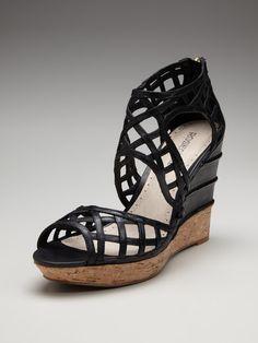 62eaf79d2f9 Rosegold Carlee Wedge Sandal 4 Inch Heels