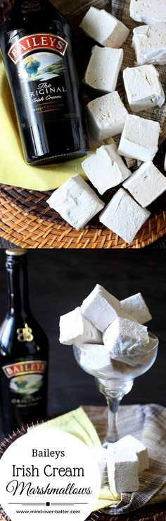 Baileys Irish Cream Marshmallows — www.mind-over-bat Baileys Irish Cream Marshmallows www.mind-over-bat Recipes With Marshmallows, Homemade Marshmallows, Homemade Candies, Baileys Recipes, Irish Recipes, Sweet Recipes, Top Recipes, Asian Recipes, Baileys Irish Cream